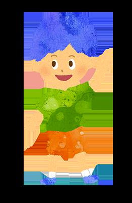 小さい男の子のイラスト