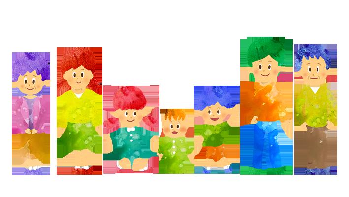 "<img class=""size-full wp-image-257 aligncenter"" src=""https://illustknock.com/wp-content/uploads/2018/09/kn011family_nl_7-1.png"" alt=""【フリー素材】7人家族(3人兄弟と両親と祖父母)のイラスト"