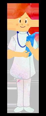 フリー素材:女性看護師、看護婦のイラスト