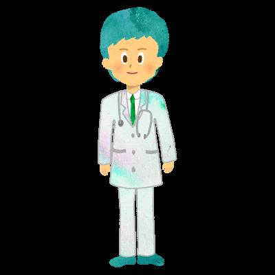 男性医師、お医者さん、ドクターのイラスト