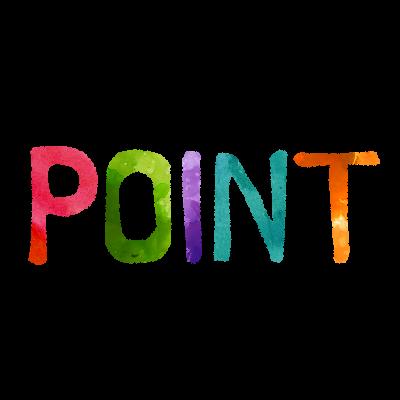 無料素材;POINT(ポイント)英文字イラスト