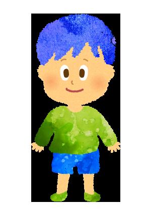 小さい男の子のイラスト。園児、幼児