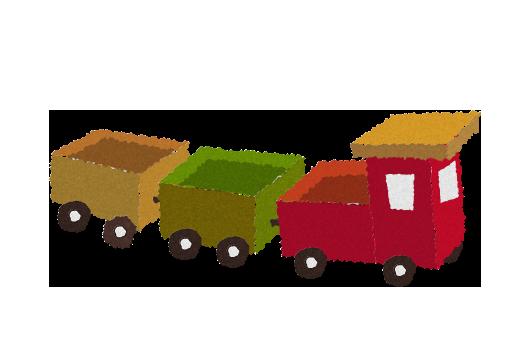 無料素材;おもちゃの汽車(電車)のイラスト