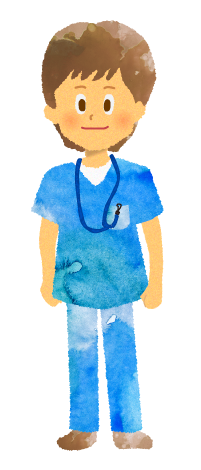 無料素材;男性看護師のイラスト