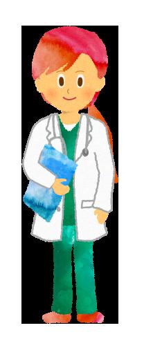 無料素材;女性医師(ドクター)のイラスト