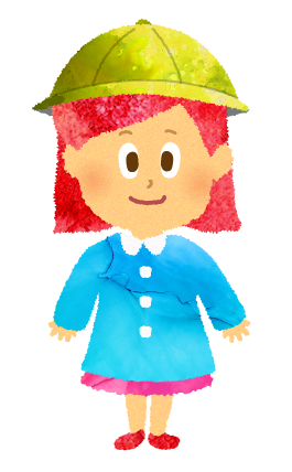 夏園服またはスモックを着た女の子園児のイラスト