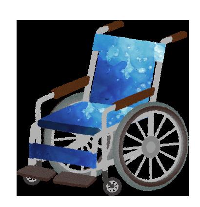 フリー素材:車椅子のイラスト