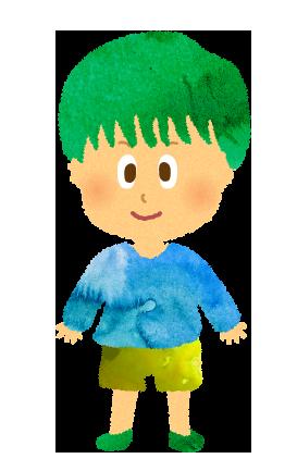 やんちゃそうな小さな男の子のイラスト【フリー素材】