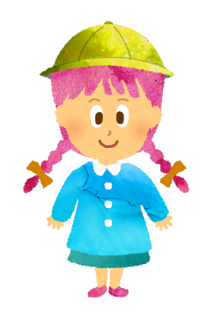 スモックを着た園児のイラスト【フリー素材】