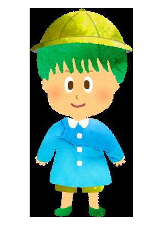 園服を着た男の子のイラスト【フリー素材】