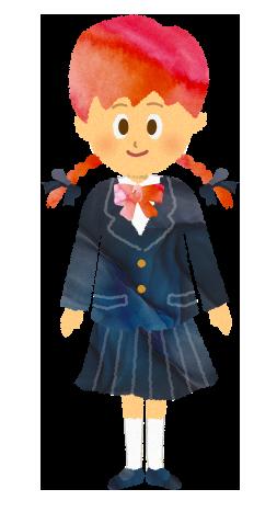ブレザーを着ている女子学生のイラスト【フリー素材】