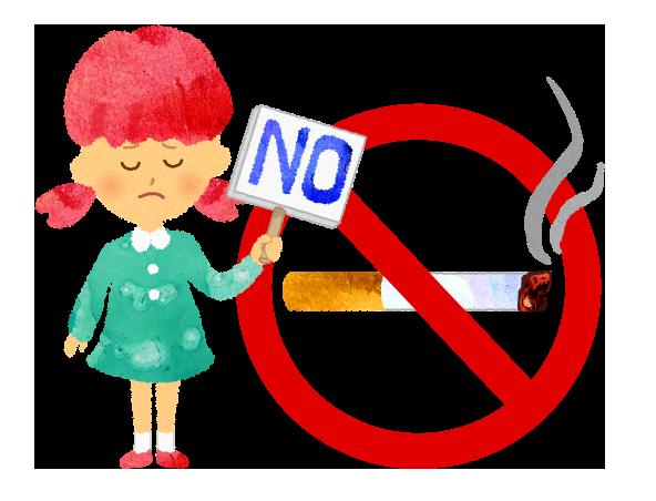 禁煙不可NGのサインのイラスト【フリー素材】