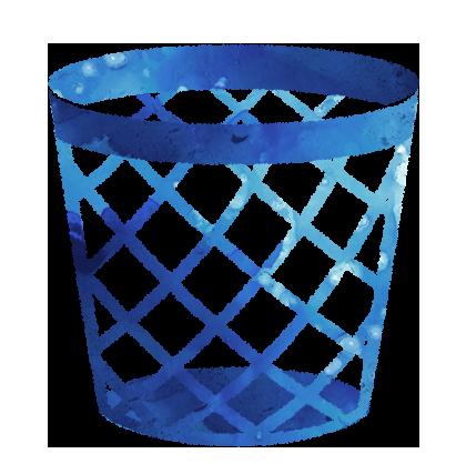 空っぽのゴミ箱のイラスト【無料素材】