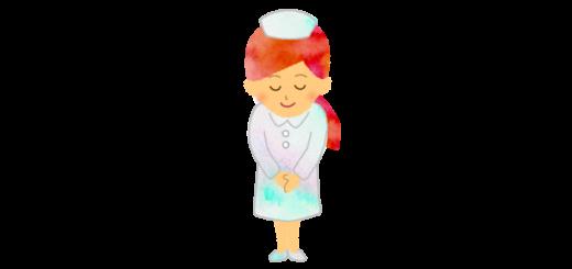 挨拶をする看護師さんのイラスト