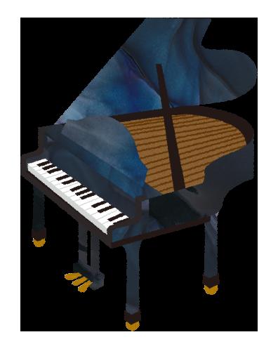 【フリー素材】グランドピアノのイラスト
