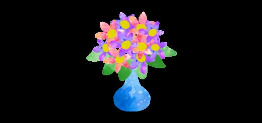 花瓶にささったお花のイラスト