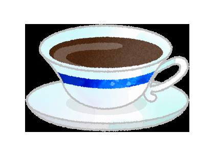 コーヒーカップのイラスト、ウェッジウッド風