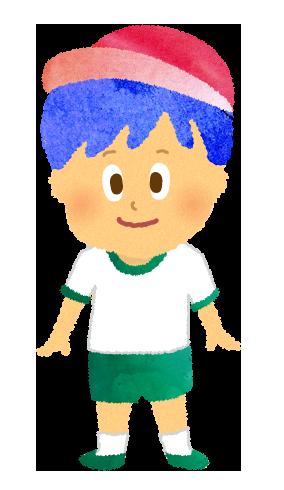 体操着を着ている男の子のイラスト