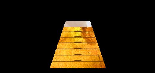 高い跳び箱のイラスト