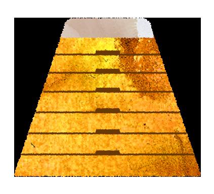 高い跳び箱のイラスト(7段)