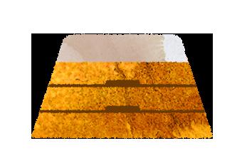 3段の低い跳び箱のイラスト