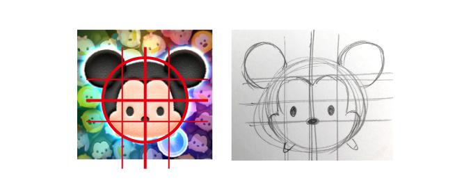 ツムツムのミッキーの描き方