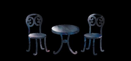 カフェテーブルセットのイラスト