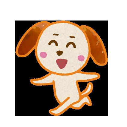 走る犬のキャラクターイラスト