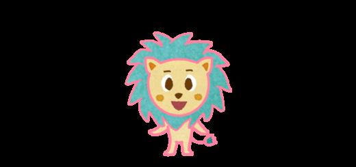 百獣の王ライオンのキャラクターイラスト