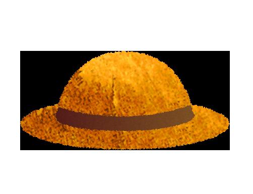 麦藁帽子のイラスト