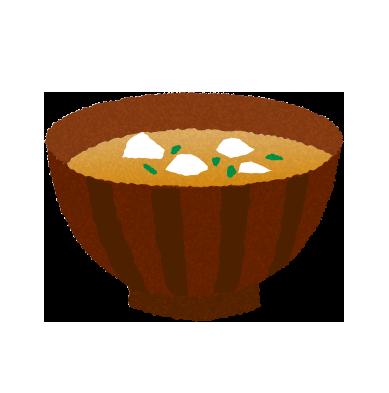 【無料素材】味噌汁のイラスト