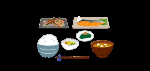 日本食のお膳のイラスト