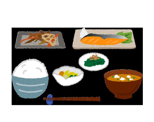 【無料素材】健康的な日本食のイラスト