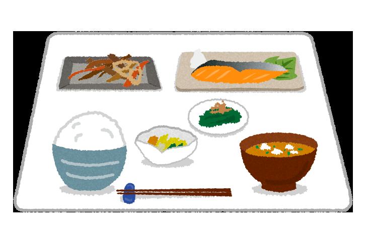 【無料素材】和食のイラスト