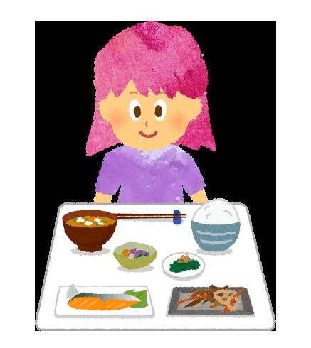 【フリー素材】朝食和食推進のイラスト