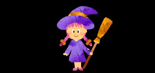 魔女のコスプレ少女のイラスト