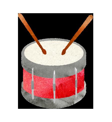 【無料イラスト】小太鼓(ドラム)のイラスト