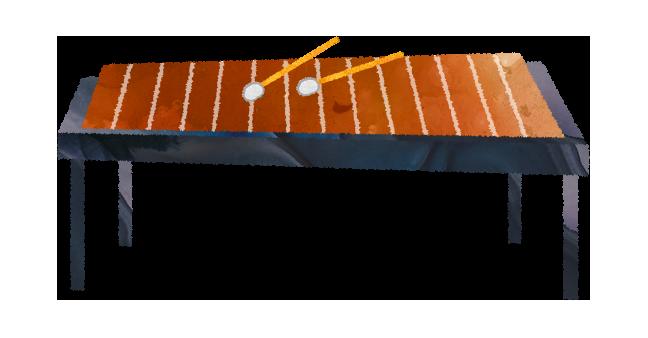 【無料素材】木琴・鉄琴のイラスト