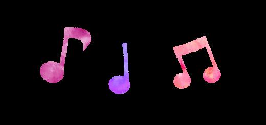 【無料素材】ピンクの音譜のイラスト