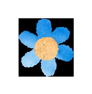 【無料素材】青いお花のイラスト