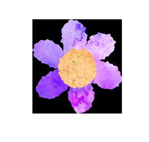 【無料素材】紫のお花のマーク