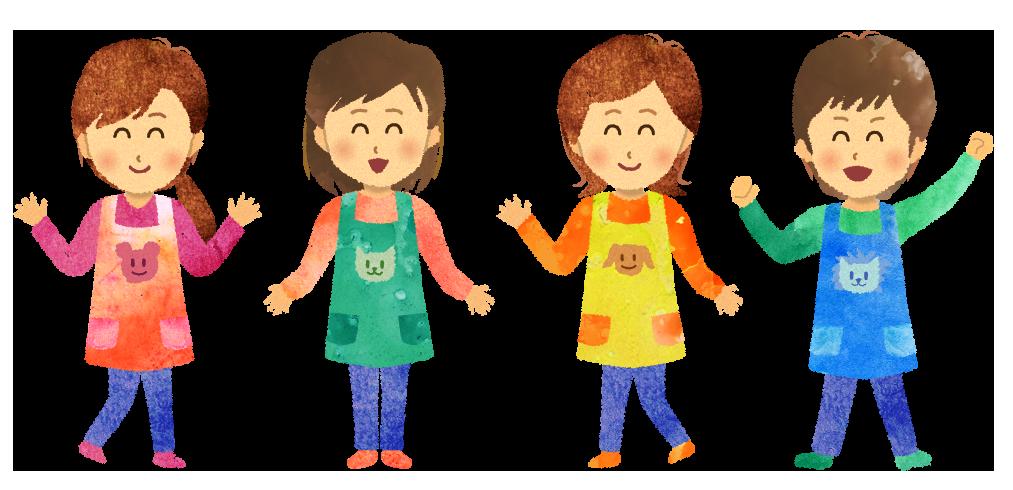 【無料素材】保育園・幼稚園の先生たち(男性保育士も)