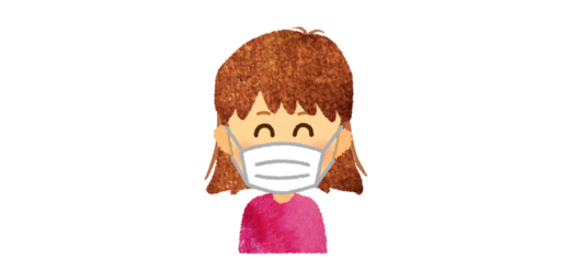 マスクを付けた女の子のイラスト