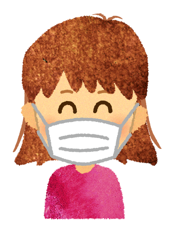 【無料素材】マスクを付けた女の子のイラスト