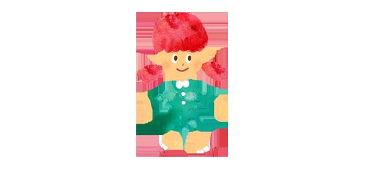 ワンピースを着た小さい女の子のイラスト