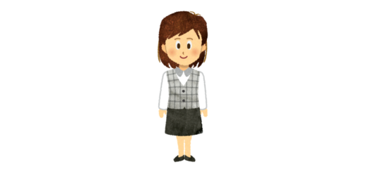 サービスカウンターの女性のイラスト