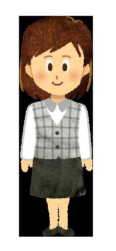 【無料素材】医療事務・OL・制服を着たお姉さんのイラスト