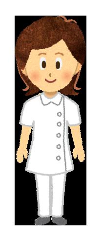 【無料素材】女性看護師のイラスト