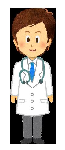 【無料素材】男性医師のイラスト