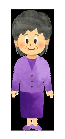 【無料イラスト】おばあちゃんのイラスト